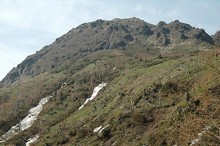 Mt. Oku-Shirane start climb