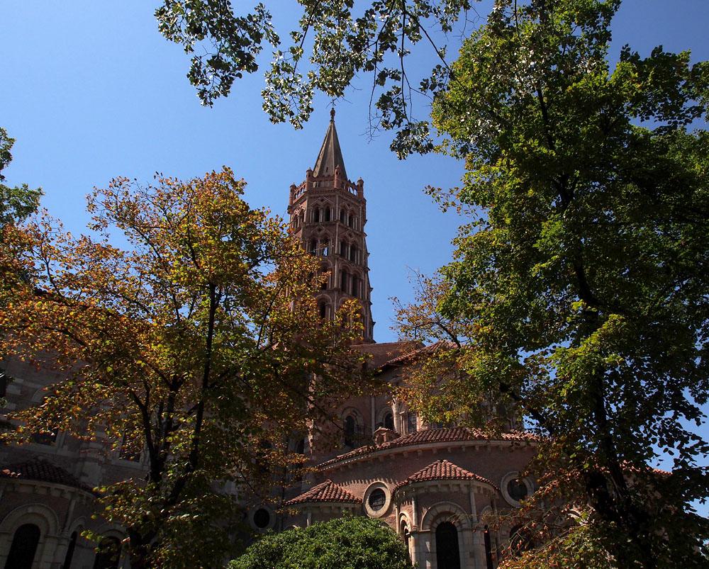 Pyrenees Trip Toulouse Basilique St. Sernin Main Street