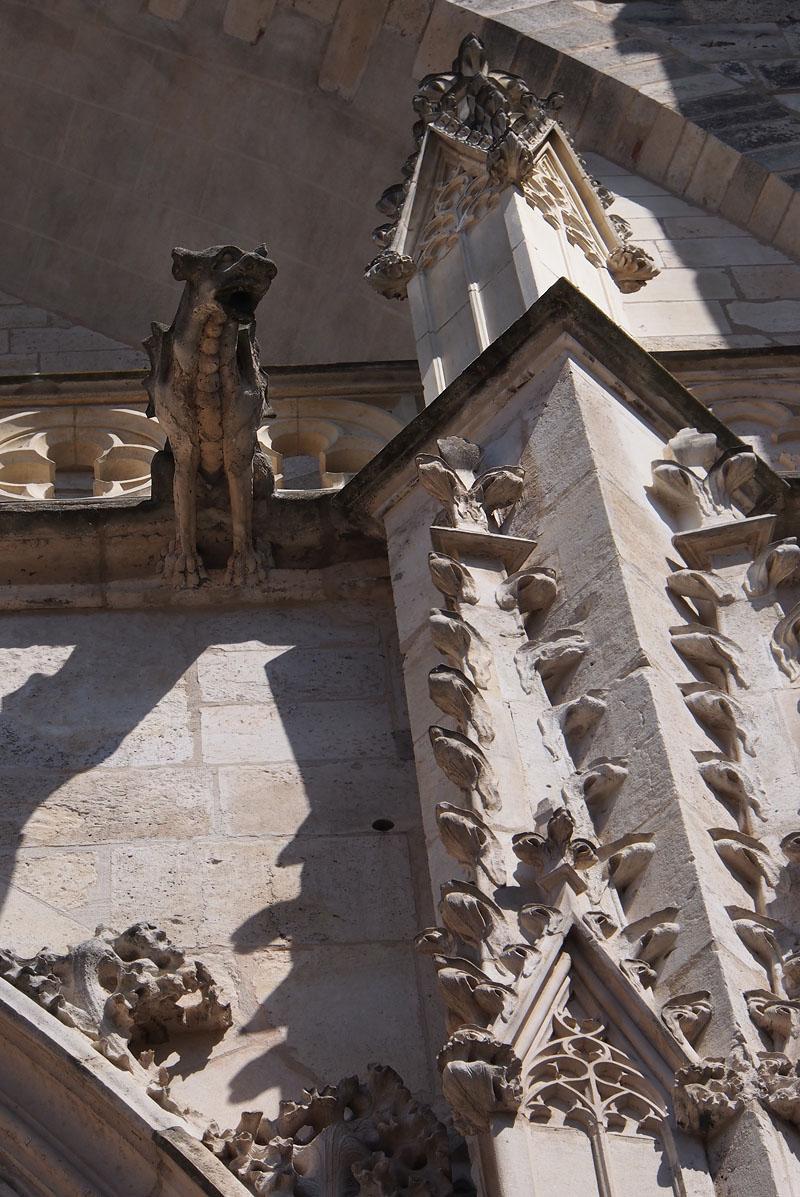 Pyrenees Trip Toulouse Cathedral Entrance Gargoyle.