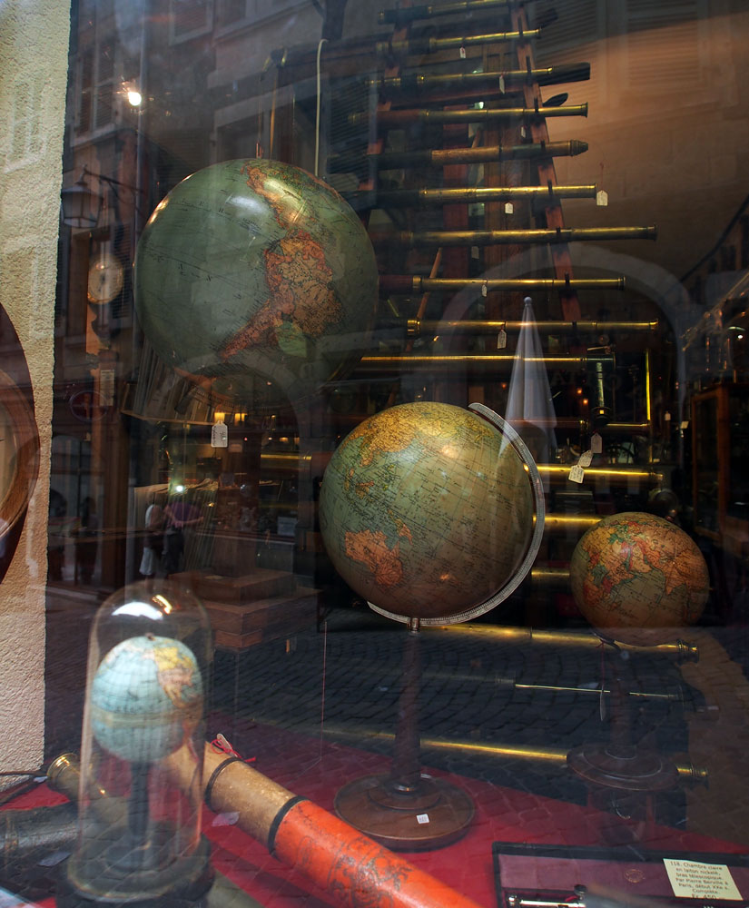 Geneva Old Town Travel Antiques Store Window