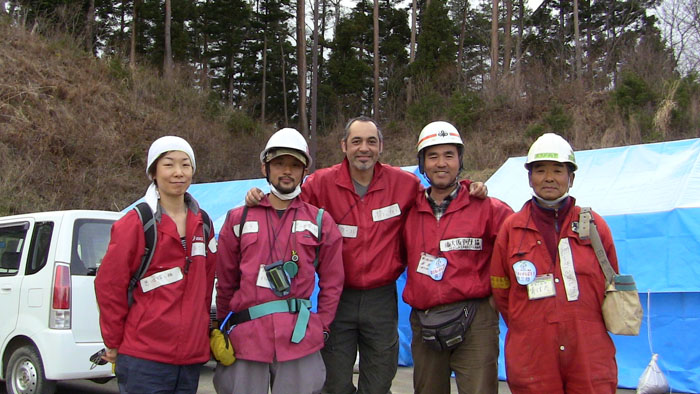 some of the volunteers for the Minami Sanrikucho tsunami Memory Seekers