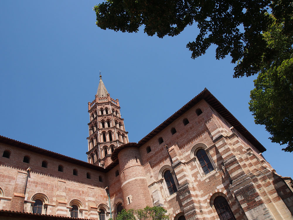 Pyrenees Trip Toulouse Basilique St. Sernin Low Angle