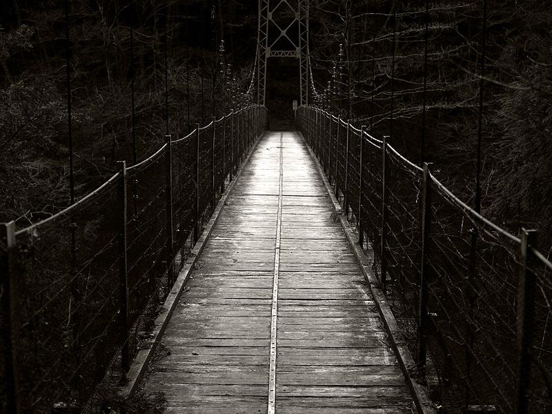 Okutama Mukashimichi Bridge