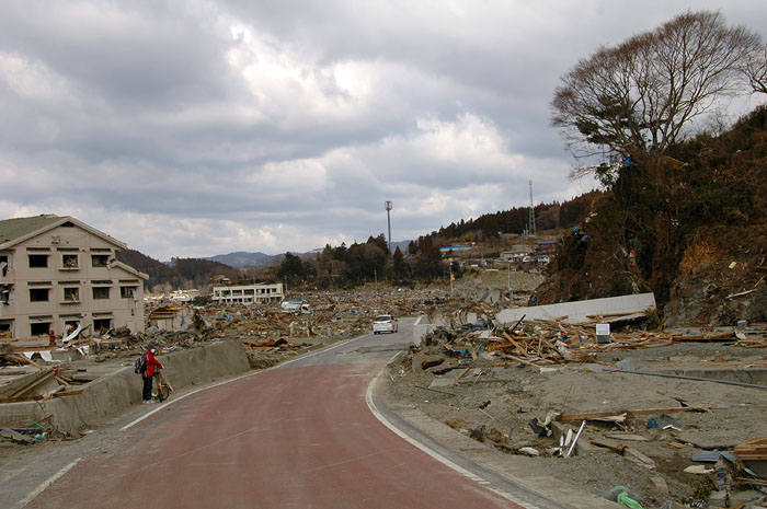 bicycling through the tsunami devastation Minami Sanrikucho