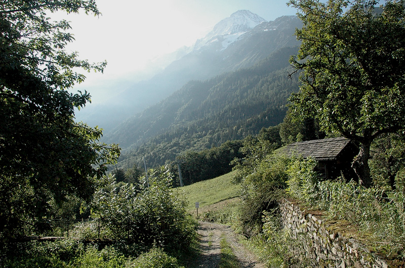 Stepping Onto the Trail Above Les Houches