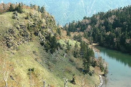 Above Oku-Shirane tarn