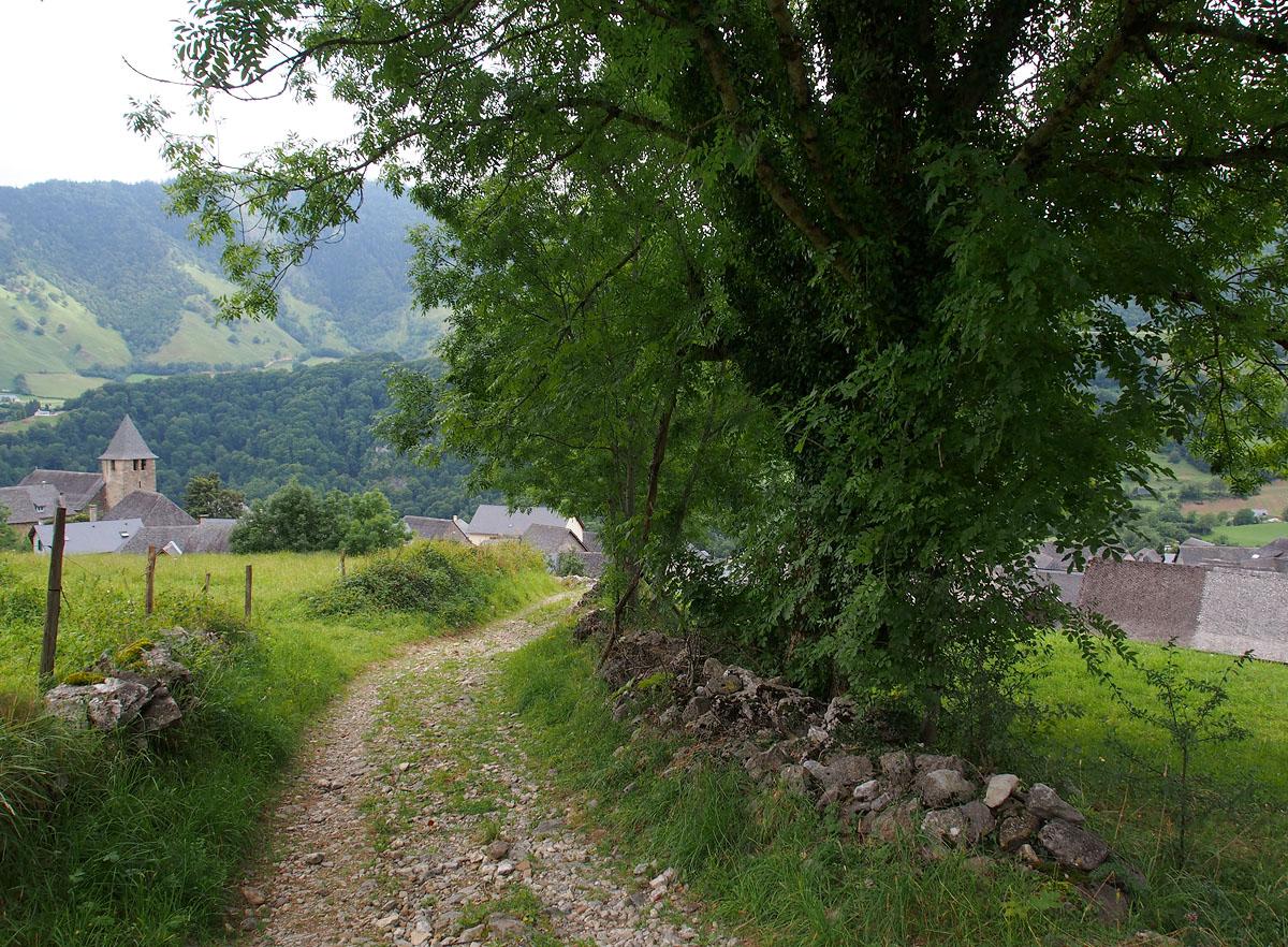 Lescun Entering Village