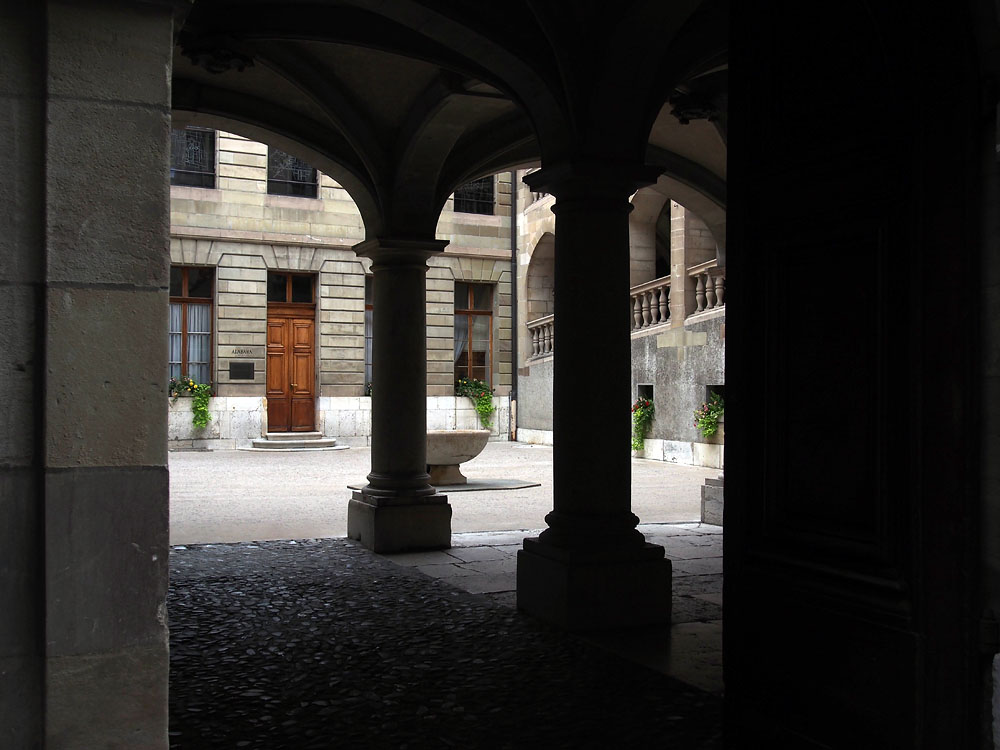 Geneva Old Town Courtyard
