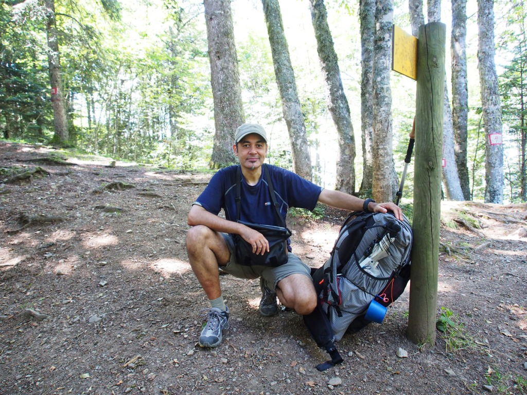 Selfie rest stop on first foothill ridge.