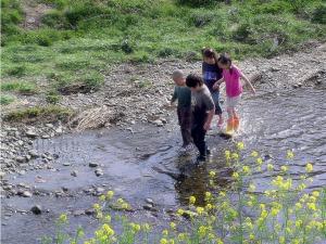 Children Nogawa River