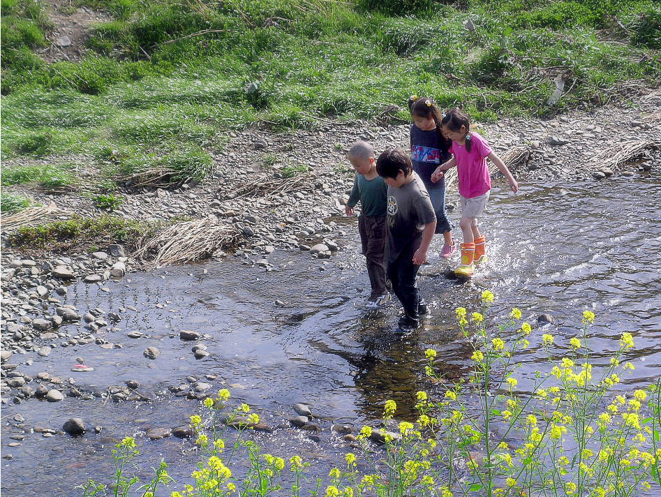 Children Nogawa River