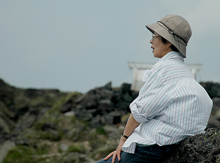 Oku-Shirane elder walker