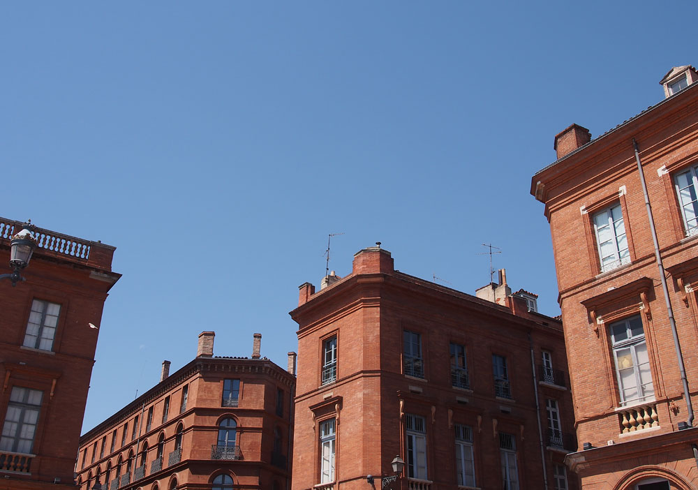 Pyrenees Trip Toulouse Red Brick Buildings