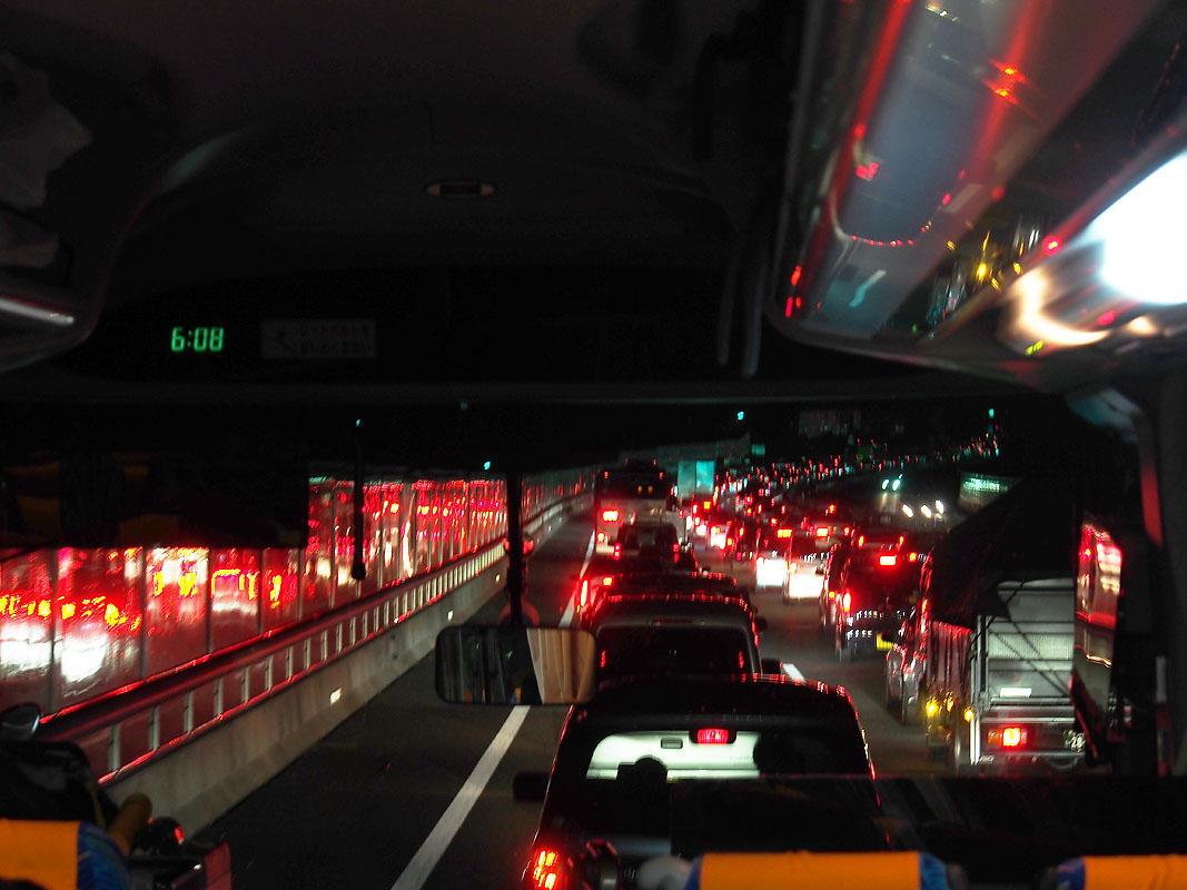 HIJ Big traffic jam back toward Tokyo